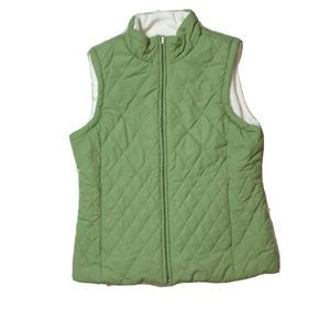 Izod Womens Reversible Vest Jacket Quilted Small